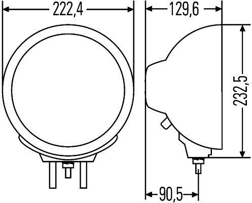 Papildlukturi Ref. 17,5 Hella Luminator Metal 1F8 007 560-011