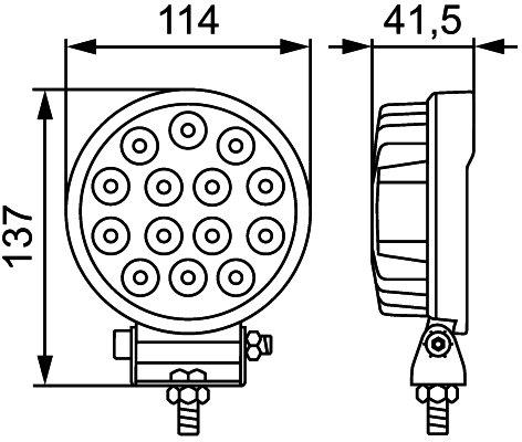 Darba gaisma Hella ValueFit LED R2200 1G1 357 105-022