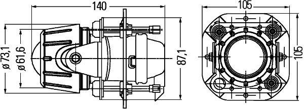 Papildlukturi, miglas 70mm Hella Micro DE Premium 1NL 008-090-317