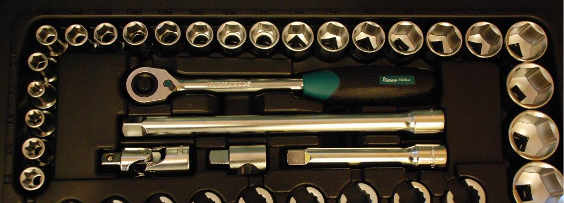 "Instrumentu kompl. 3/8""1/2""1/4"" 166 gab. K25018"