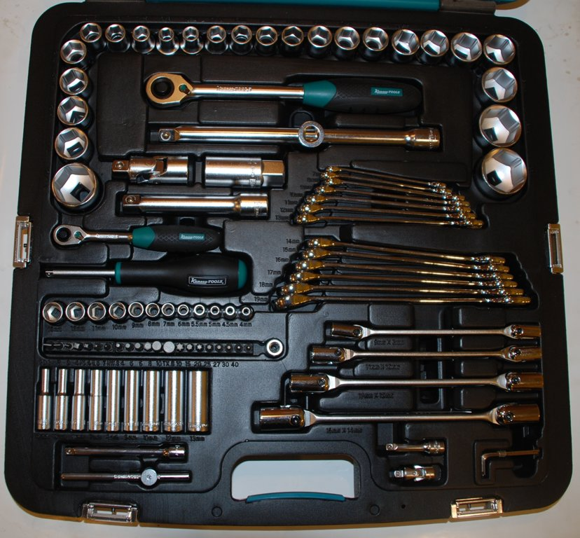"Instrumentu kompl. 1/2"",1/4"" 99 gab. K25016"