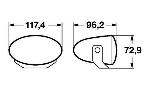 FF50, papildlukturi (Ref. 12.5) Komplekts 1FA 008 283-811
