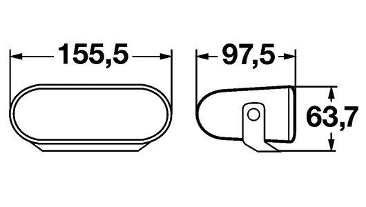 FF75, miglas lukturi. Komplekts 1NA 008 284-801