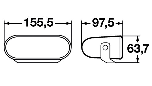 FF75 papildlukturis, (Ref. 12.5) Komplekts 1FA 008 284-811