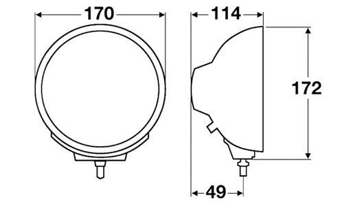 Hella Luminator Compact Chrom Celis Ref. 17,5 1F1 009 094-091