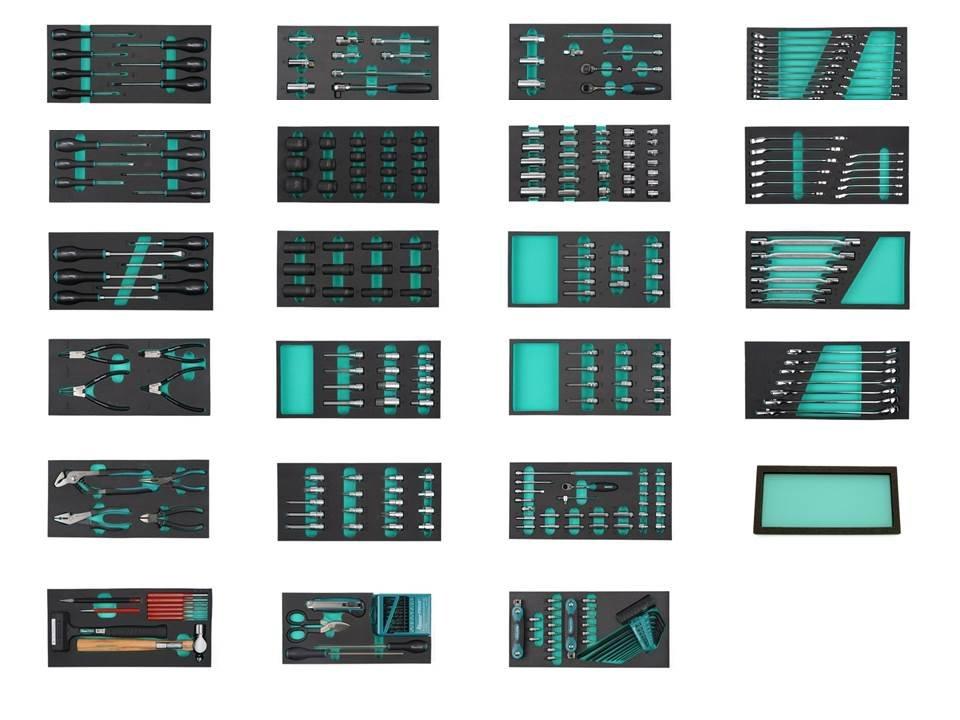 Instrumentu rati 13 atvilktnes (ar instrumentiem) K7619